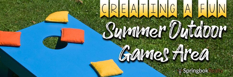 Creating an Outdoor Games Area