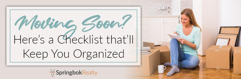 Moving Day Checklist to Keep You Organized